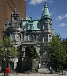 Arthur Dubuc House, Sherbrooke Street in Montreal, Quebec, Canada - Not a castle but worth adding. Montreal Ville, Montreal Quebec, Quebec City, Toronto Canada, Canada Eh, Interesting Buildings, Beautiful Buildings, Alberta Canada, Montreal Architecture