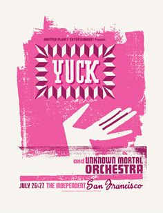 Yuck concert poster by Lil Tuffy