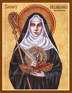 """St. Hildegard von Bingen"" icon by Theophilia on DeviantArt #ReligousIcons #CatholicArtwork #StHildegard"