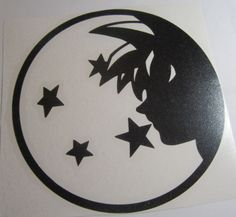 Dragon Ball Z DBZ face Super Saiyan Goku Anime Vinyl Die Cut Decal Sticker