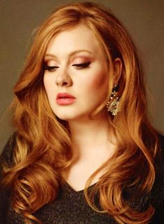 Gorgeous photo of Adele. I wish my hair were that thick & luscious...
