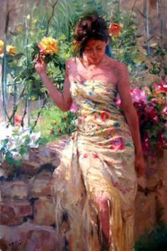 (Spain) Elis Souza by Vicente Romero Redondo ). Oil on canvas. Romantic Woman, Victorian Art, Weird Art, Beautiful Paintings, Figure Painting, Figurative Art, Art Images, Bing Images, Art Day