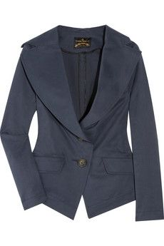 I love this fitted jacket from Vivienne Westwood's Anglomania range. I would wear it all the time for work. The colour is just right for me too! Pretty Outfits, Cute Outfits, Navy Blue Blazer, Vivienne Westwood Anglomania, Grey Fashion, Dress To Impress, Casual Outfits, Clothes For Women, Women's Clothes