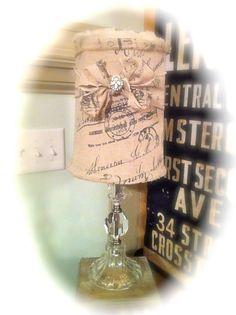 Burlap lamp....