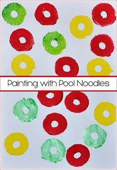 Painting with Pool Noodles