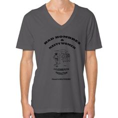 Bad Hombres & Nasty Women V-Neck T-Shirt Mens
