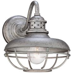 "Franklin Park Cage 8 1/2"" Wide Steel Outdoor Wall Light -"