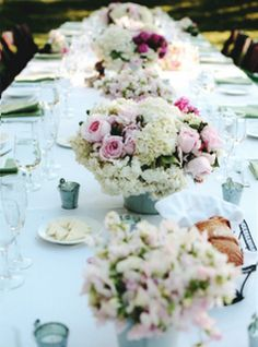 Shabby Chic Style: Blooms Pretty in Pink & White