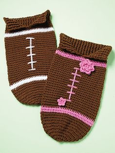 Crocheted Football Papoose