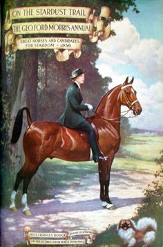Mrs Frances Dodge on Pendennis  1936 Stardust Trail by George Ford Morris