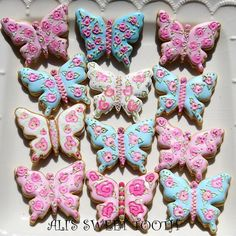 My Idea Of A Faberge Egg Cookie Decorated Shabby Chic Sugar Cookies No Egg Cookies, Sweet Cookies, Iced Cookies, Cupcake Cookies, Sugar Cookies, Butterfly Cookies, Flower Cookies, Pavlova, Cheesecakes