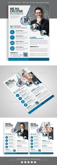 A4 Corporate Business Flyer Template #design Download…