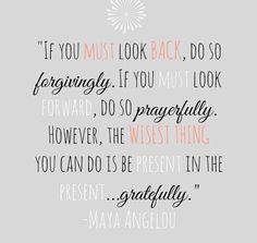 Be present gratefully