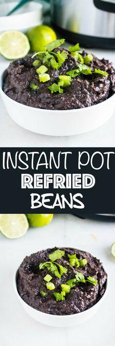 Refried Black Beans via @krystlekouture Casserole Recipes, Pasta Recipes, Crockpot Recipes, Soup Recipes, Chicken Recipes, Dinner Recipes, Dessert Recipes, Potato Recipes, Mexican Food Recipes