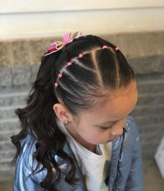 Each of these hair styles represent fairly simple and are good for novices, fast and simple toddler hair styles. Easy Toddler Hairstyles, Girls Natural Hairstyles, Kids Braided Hairstyles, Flower Girl Hairstyles, Little Girl Hairstyles, Toddler Hair Dos, Female Hairstyles, Hairdos, Curly Hair Styles