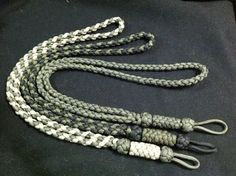 How to Make: Tan/OD, Black/OD and solid OD Skogkniv Adirondack Woodsman paracord lanyards! - Paracordist Creations LLC