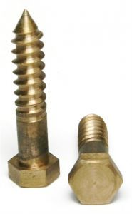 "1/4"" Hex Lag Screws Silicon Bronze Lag Bolts, Wood Screws, Bronze"