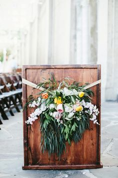 Wedding Ceremony Florals | Sunglow Photography