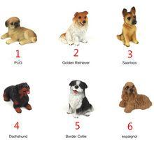 Venda de cães 6 desenhos de fadas gnomos de jardim mini miniaturas musgo artificial terrários estatuetas de resina artesanato para decoração de jardim(China (Mainland))