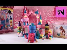 Play Doh Disney Princess Aurora Magical Designs Palace Mooshka Palia Mermaid Sonia Dolls - YouTube