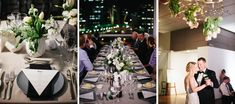 Real Wedding – Sonia & Michael - Table Setting - Tablescape - Rooftop Reception - City Views