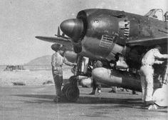 N1K1-J Shiden fighters prepared for flight, circa late 1944, photo 2 of 2