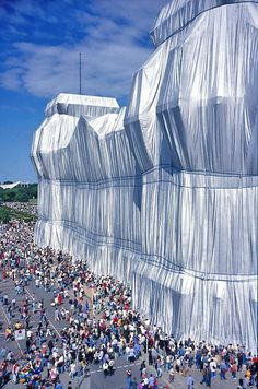 Wrapped Reichstag by Christo and Jeanne-Claude, 1995.    Berlin, Germany.