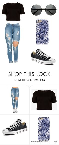"""Sin título #115"" by karenrodriguez-iv on Polyvore featuring moda, Ted Baker y Converse"