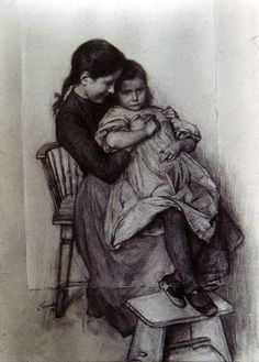 Emile Friant- I kind of like this drawing more than his completed painting. Sometimes that happens, I suppose.