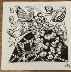 Zentangle, Playing Cards, Club, Doodle, Zentangle Patterns, Playing Card Games, Zentangles, Game Cards, Playing Card
