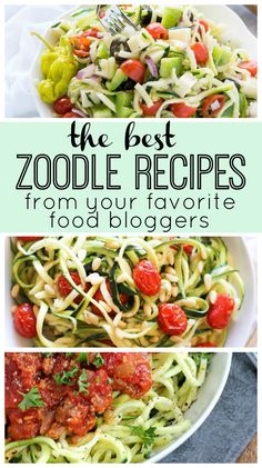 The best zoodle (zucchini noodle) recipes from your favorite food bloggers! Healthy, easy, low-cal dinners that you will love.
