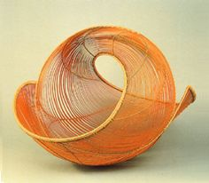 These delicate yet strong bamboo baskets are by Japanese artist Shono Shounsai (1904 -1974).