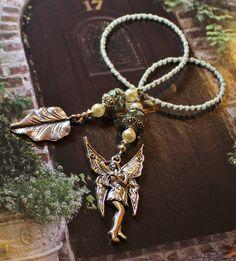 """Garden Fairy"" Beaded Bookmark"