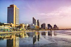 Beachfront of Tel Aviv, Israel.