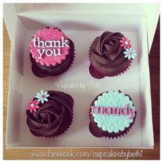 Thank you cupcakes www.facebook.com/cupcakesbybeth1 Thank You Cupcakes, Thank You Cake, Teacher Cupcakes, School Cupcakes, Cupcake Party, Cupcake Cakes, Cupcake Ideas, Cup Cakes, Cupcake Toppers