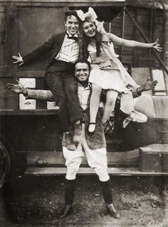 One of the most famous photos of the 3, Charlie Chaplin, Mary Pickford & holding them up is Douglas Fairbanks. Once considered Hollywood royalty.