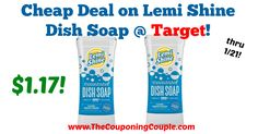 Great price, print your coupon and pick up this deal through 1/21! Cheap Deal on Lemi Shine Dish Soap @ Target!  Click the link below to get all of the details ► http://www.thecouponingcouple.com/cheap-deal-on-lemi-shine-dish-soap-target/ #Coupons #Couponing #CouponCommunity  Visit us at http://www.thecouponingcouple.com for more great posts!