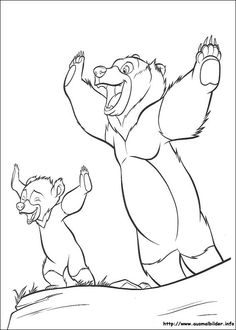 Brother Bear 2 coloring picture | color time with disney ...