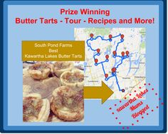 A delicious tour Culinary Tourism Award finalist Includes Butter Tarts! is a must on this list Age? able to digest butter tarts Romantic Weekend Getaways, Butter Tarts, Tart Recipes, Yummy Drinks, Organizations, Day Trips, Ontario, Tourism, Lakes