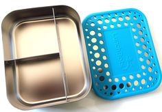 LunchBots Trio- with Aqua Dots Lid - Bento Land