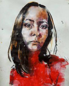 Larger scale portrait study in mixed media on paper. #fineart #drawings #illustration #fashion #contemporaryart #mixedmedia #inks #portrait #creative #expressive #inspiration #artoftheday #picoftheday #instaart #artistoninstagram http://ift.tt/2es9akz