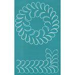 Stencil - Feather Wreath & Border