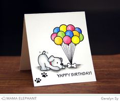 mama elephant | design blog: STAMP HIGHLIGHT: PLAYFUL PUPS