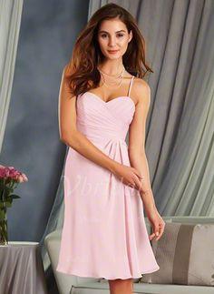 Bridesmaid Dresses - $115.94 - Empire Sweetheart Knee-Length Chiffon Bridesmaid Dress With Ruffle (0075119431)
