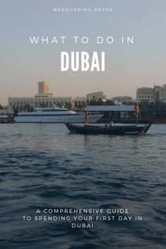 Dubai has developed into a massive tourist playground since I made my last visit as a kid. While a solid tour of the city deserves more than one day, here is my guide to spending your first day in Dubai: it includes: boats and shops. Fun boats, and unique shopping experiences - check it out!