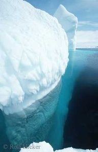 Stock of an Iceberg Pic in iceberg alley off the coast of Newfoundland by Rolf Hicker