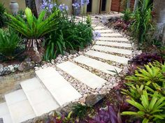 26 Beautiful Garden Path Designs Ideas For You, http://tyuka.info/26-beautiful-garden-path-designs-ideas-for-you/, , Since you may see, the path and surrounding gardens are created utilizing an array of unique forms of rock in all sizes, shapes, and colours. Garden p... Gardening, Patios, Perth, Container, Landscape, Outdoor Decor, Home Decor, Gardens, Nice Asses
