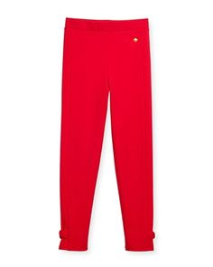 Kate Spade Girls Solid Red Baby Legging