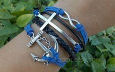 "Check out Belief bracelet, cross bracelet, anchor bracelets, infinity bracelets, navy blue leather bracelet, fashi"" Decal @Lockerz http://lockerz.com/d/27190684?ref=gabriel.iordache2396"