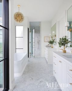 Bathroom decor for the bathroom remodel. Discover master bathroom organization, master bathroom decor ideas, master bathroom tile suggestions, master bathroom paint colors, and more. All White Bathroom, Family Bathroom, Small Bathroom, White Bathroom Cabinets, Boho Bathroom, Bathroom Mirrors, Bath Shower, Bathroom Cleaning, Bath Tub